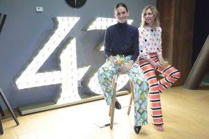 La modelo, junto a la diseñadora Alicia Hernández, compañera de generación y fundadora de Dolores Promesas.