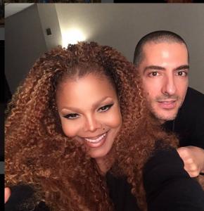 Janet Jackson con marido