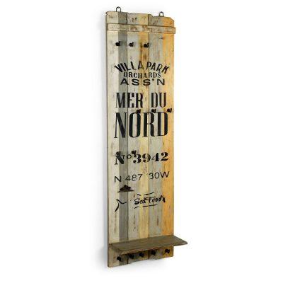 Perchero de madera vintage. Demarques.es