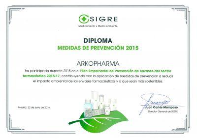 diploma Arkopharma