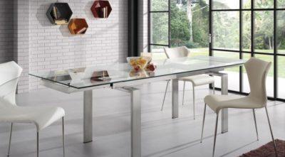 Muebles-mesa-de-Comedor-Cristal-Extensible-Corona