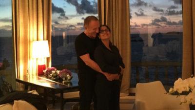 Salma Hayek con su marido