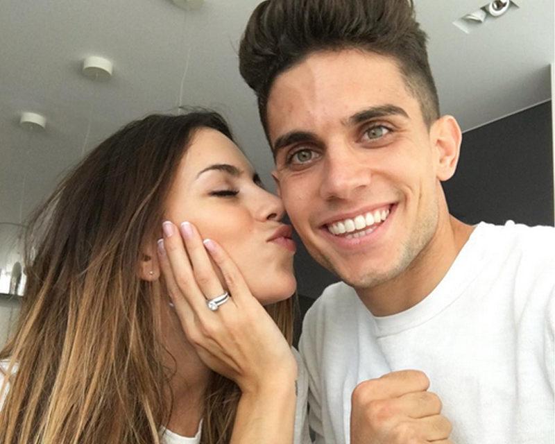 Melissa Jiménez se casa con Marc Bartra