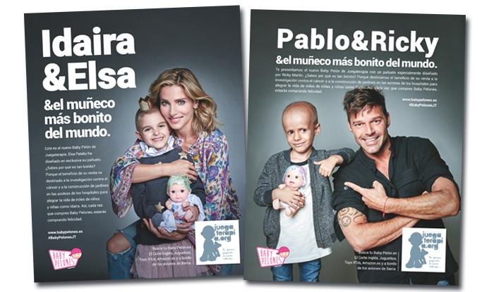 Elsa y Ricky, contra el cáncer infantil