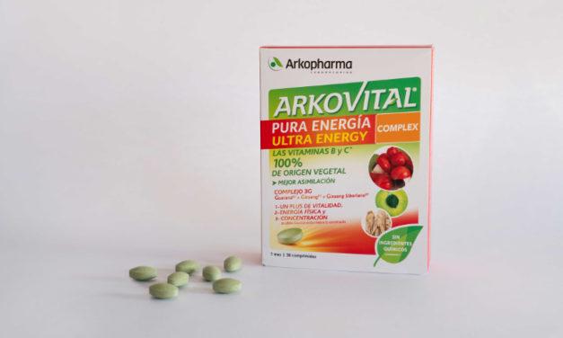 Un comprimido al día de Arkovital Pura Energía y ¡adiós cansancio!