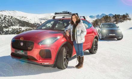 Tamara Falcó pone a prueba su Jaguar E-PACE Diesel 4×4 en las pistas de Andorra