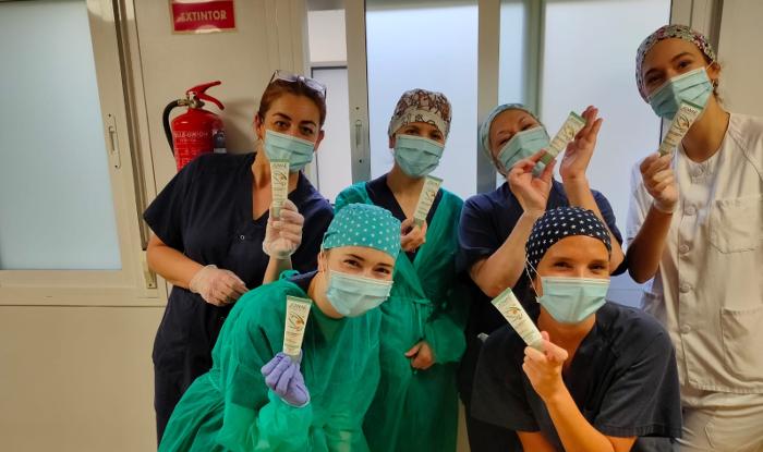 Jowaé España dona 5.200 cremas de manos